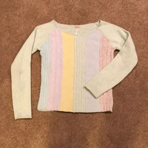 Free People Pastel Wool Sweater